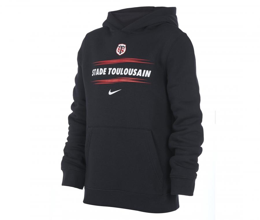 Sweat à capuche Stade Toulousain Noir Junior