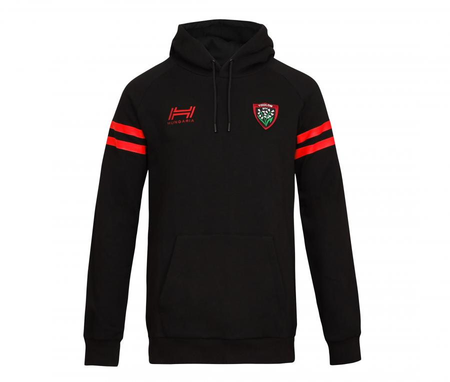 Sweat à capuche RC Toulon Fan Noir