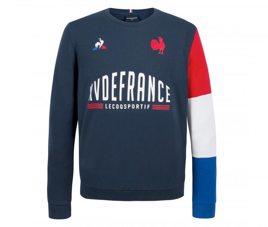 Sweat-shirt  France Rugby XV de France FFR Bleu Junior