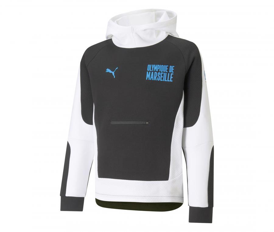 OM Evostripe Kid's Hooded Sweater Black/White