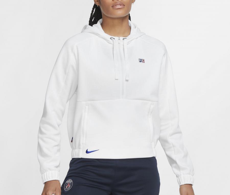 Sweat à capuche PSG Blanc Femme