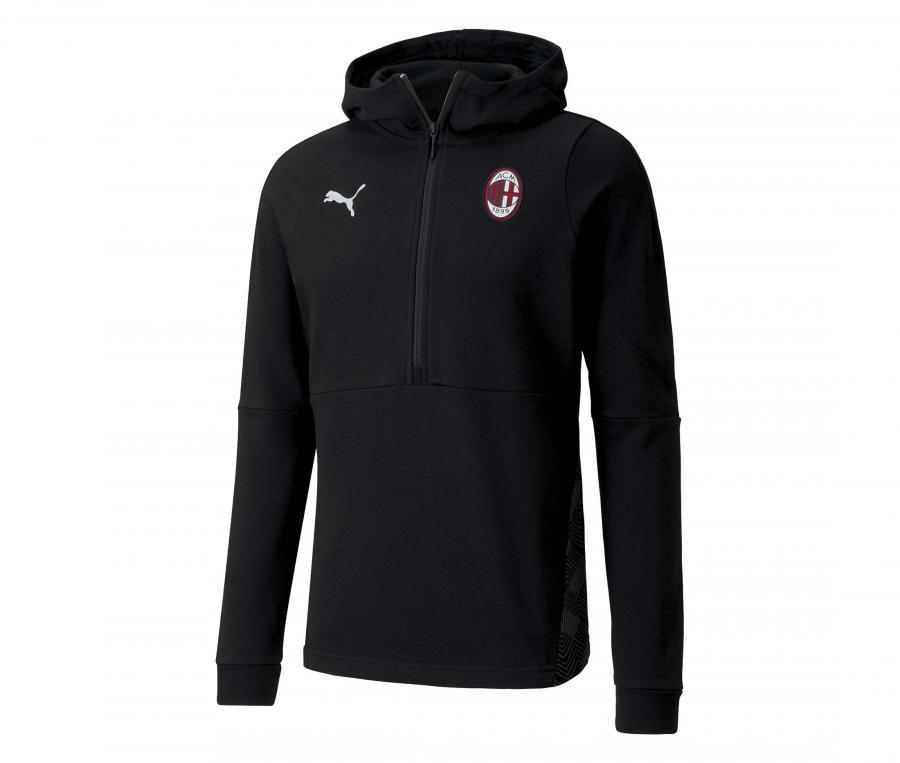Sweat à capuche AC Milan Noir
