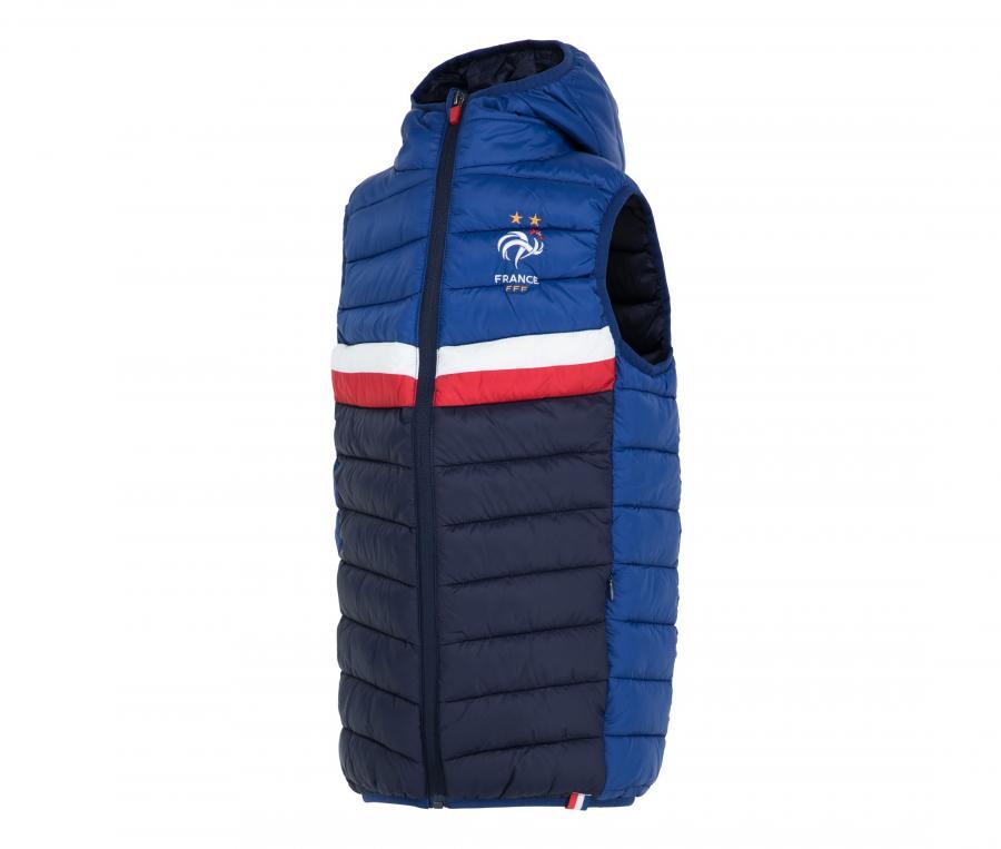 Doudoune sans manche France Bleu Junior