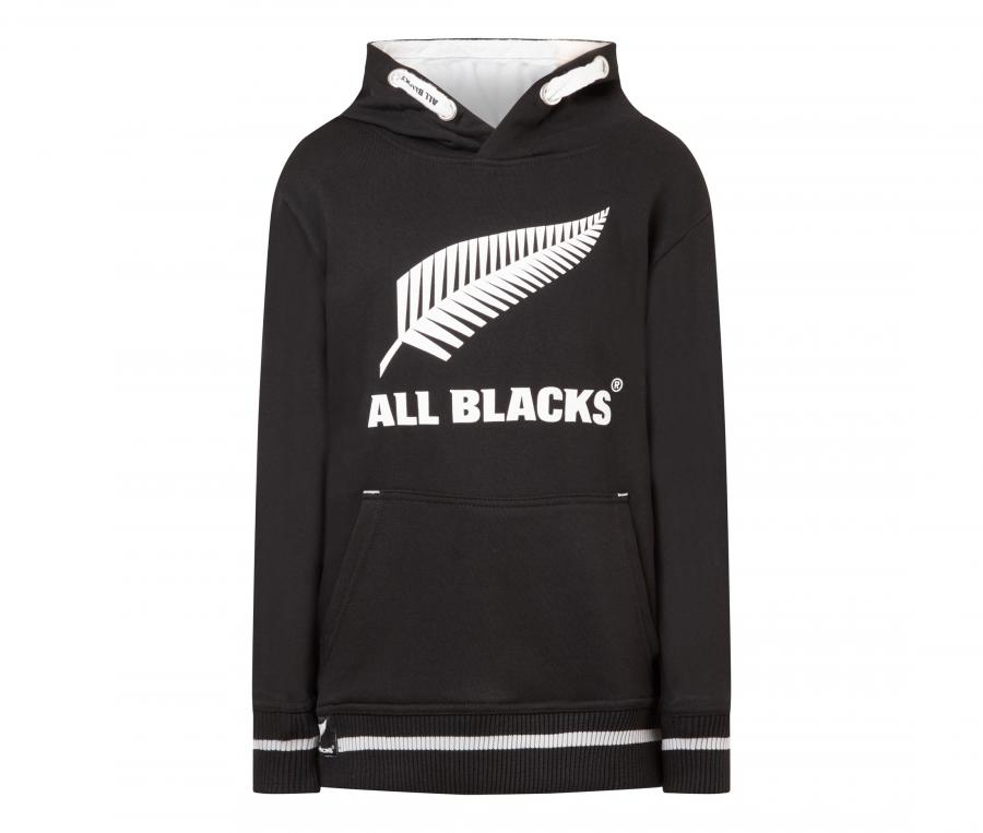 Sweat à capuche All Blacks Noir Junior