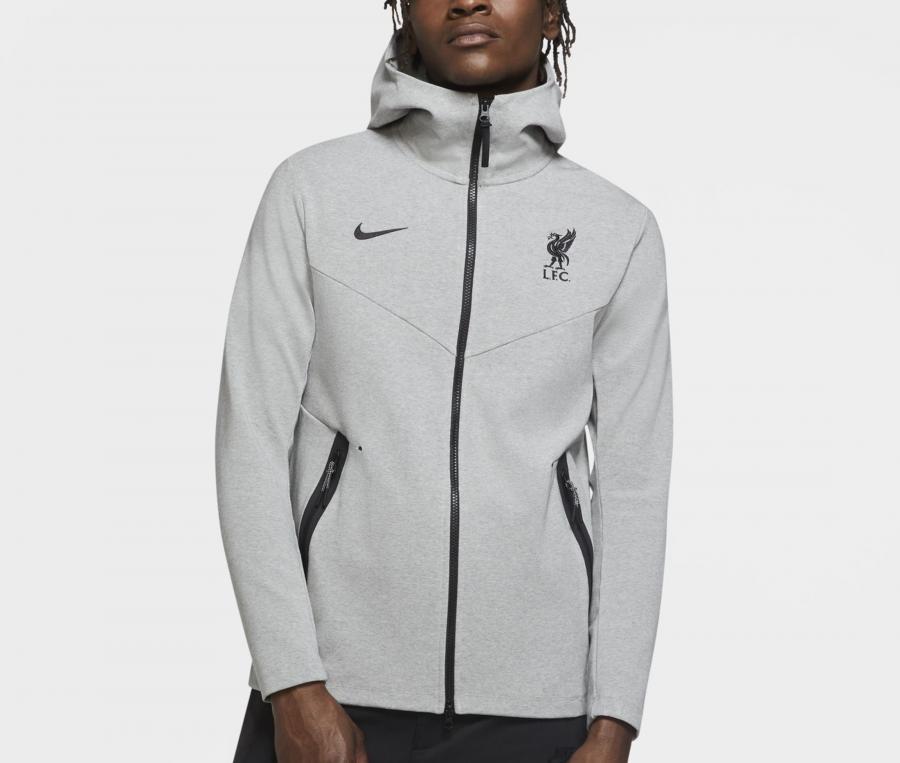 Veste à capuche Liverpool Tech Pack Gris