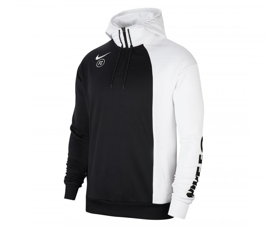 Sweat-shirt à capuche Nike F.C. Noir/Blanc