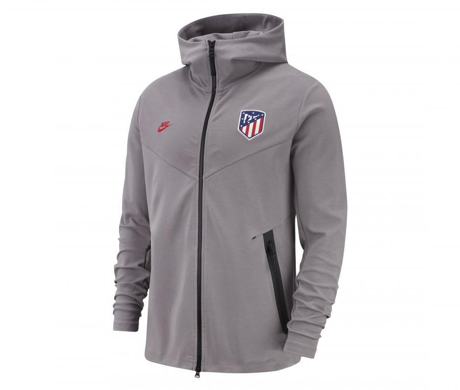 Veste à capuche Atletico Madrid Tech Pack Gris