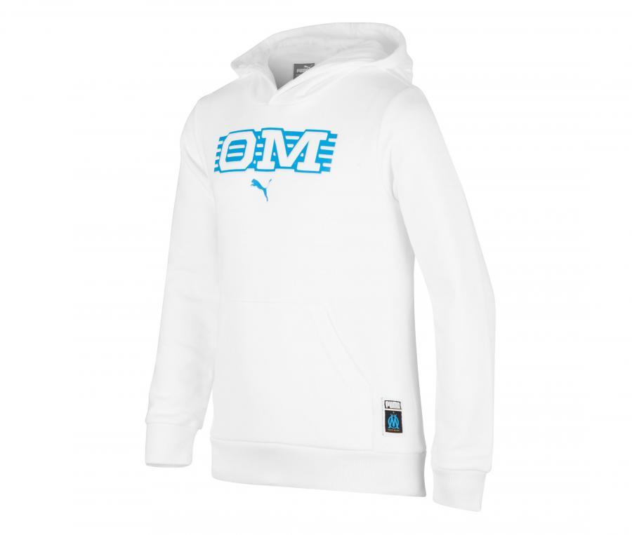 OM Core Kid's Hooded Sweatshirt White