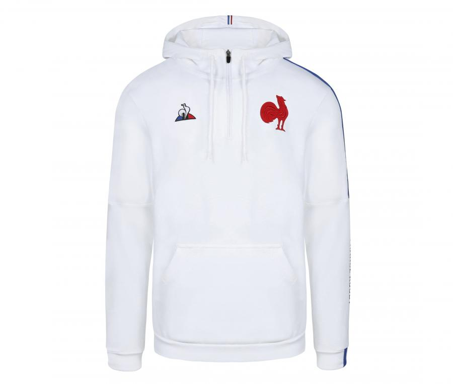 Sweat à capuche France FFR Blanc
