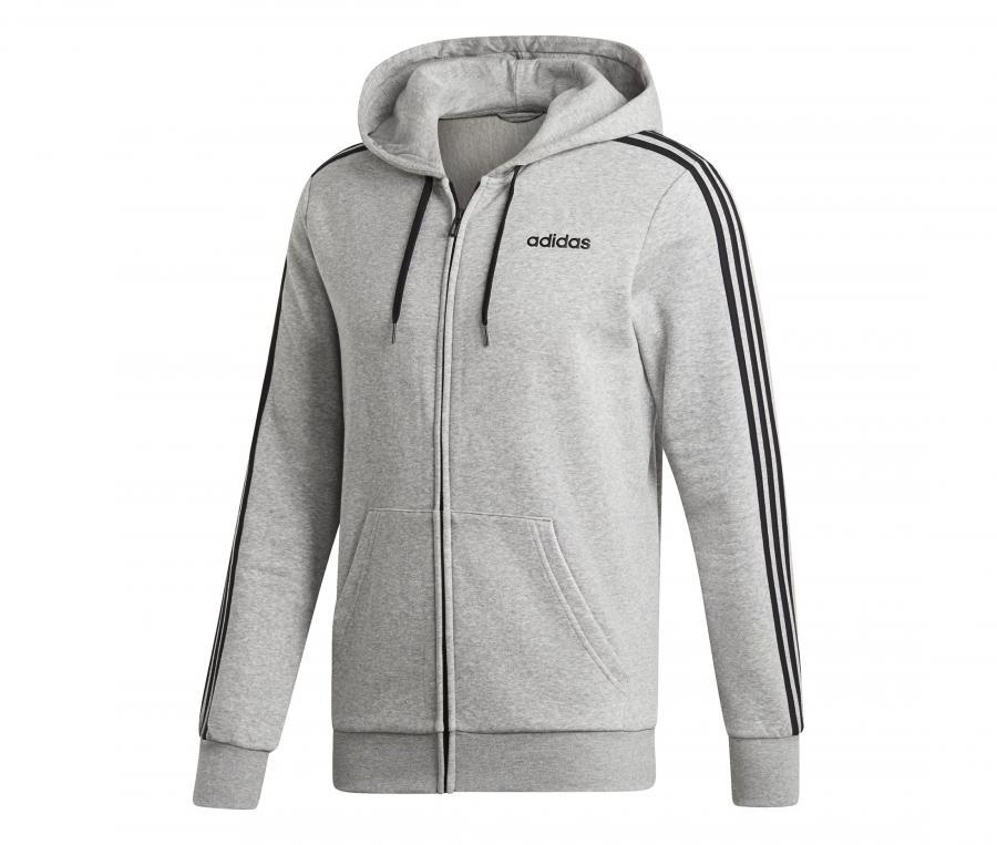 Veste à capuche adidas 3-Stripes Essentials Gris