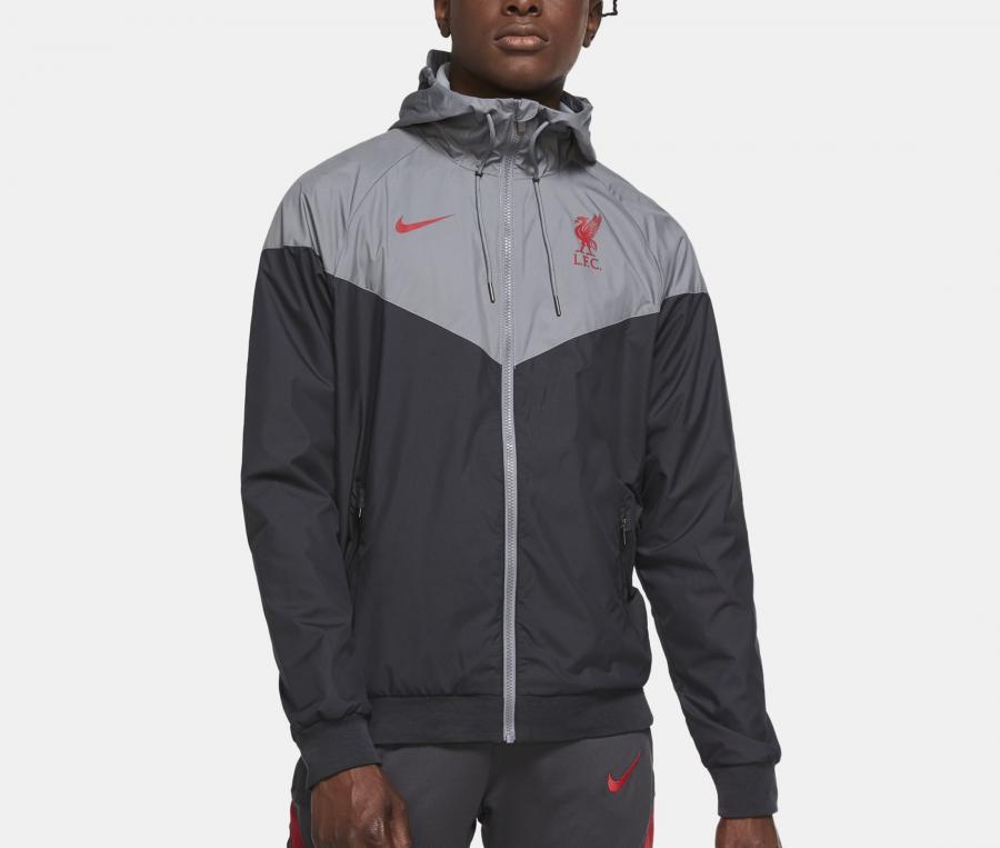 Veste à capuche Nike Liverpool Windrunner Gris