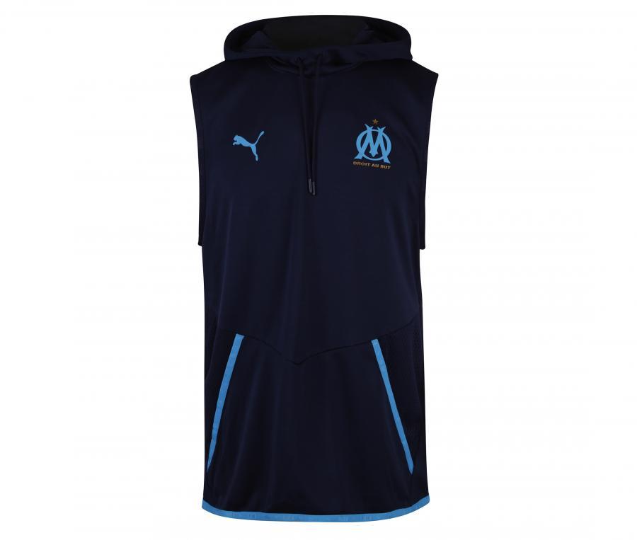 Sweat à capuche sans manche OM Warm Up Bleu