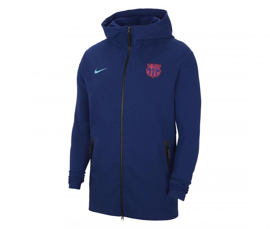 Veste à capuche Barça Tech Pack Bleu
