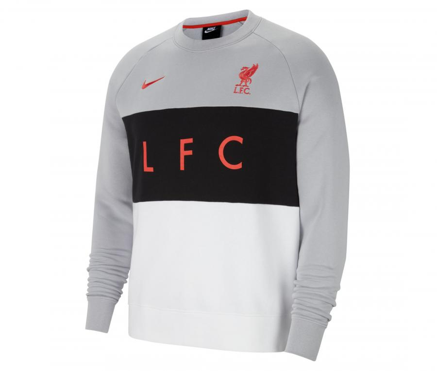 Sweat-shirt Liverpool Gris/Blanc
