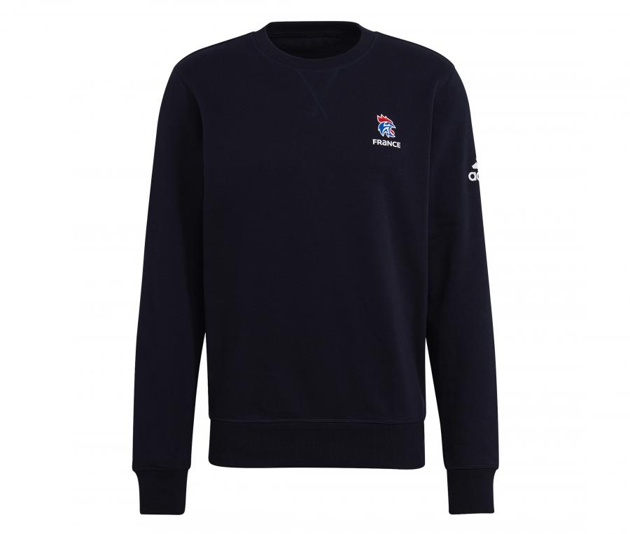 Sweat-shirt Entraînement Handball France FFHB Crew Bleu