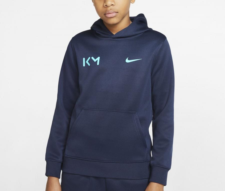 Sweat à capuche Nike Kylian Mbappé Bleu Junior