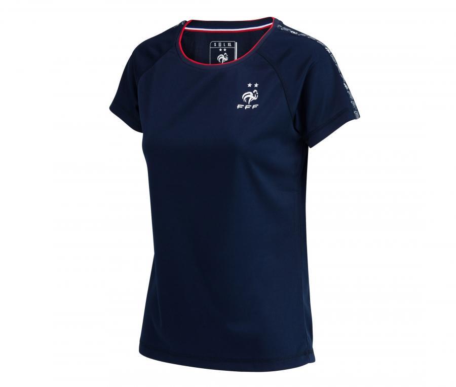 T-shirt France Fan 2 étoiles Bleu Femme