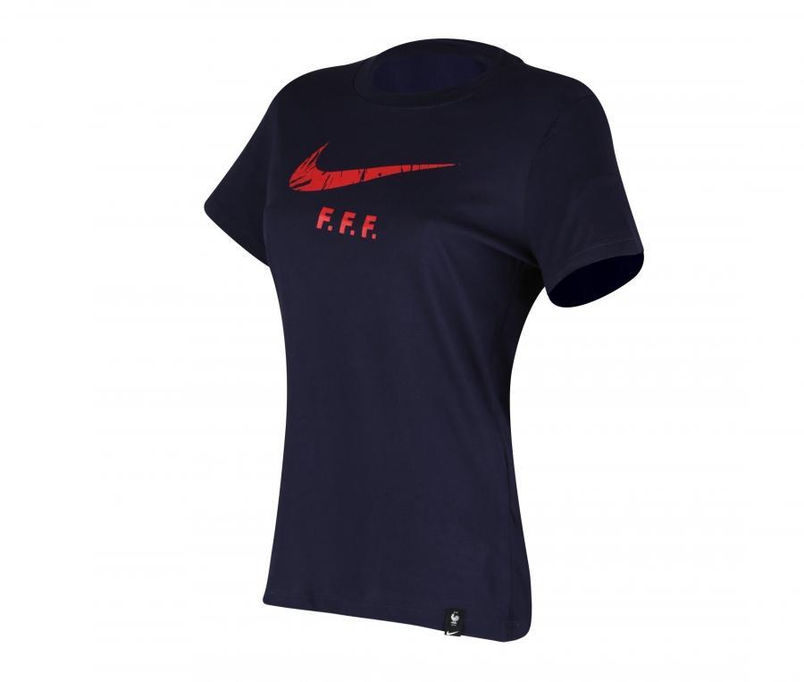 T-shirt France Bleu Femme