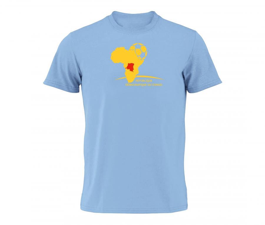 T-shirt Fan RD Congo Bleu