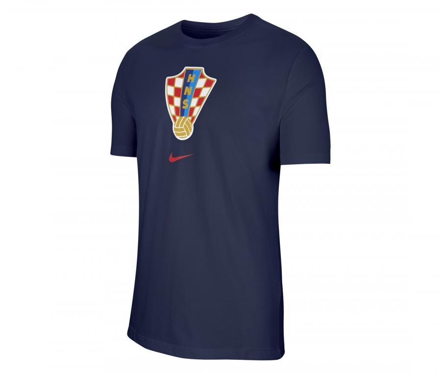 T-shirt Croatie Crest Bleu
