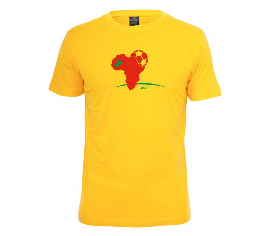 T-shirt Fan Mali Jaune