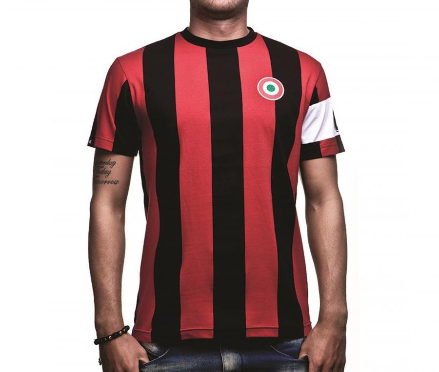 T-shirt Vintage AC Milan Capitaine Rouge/Noir