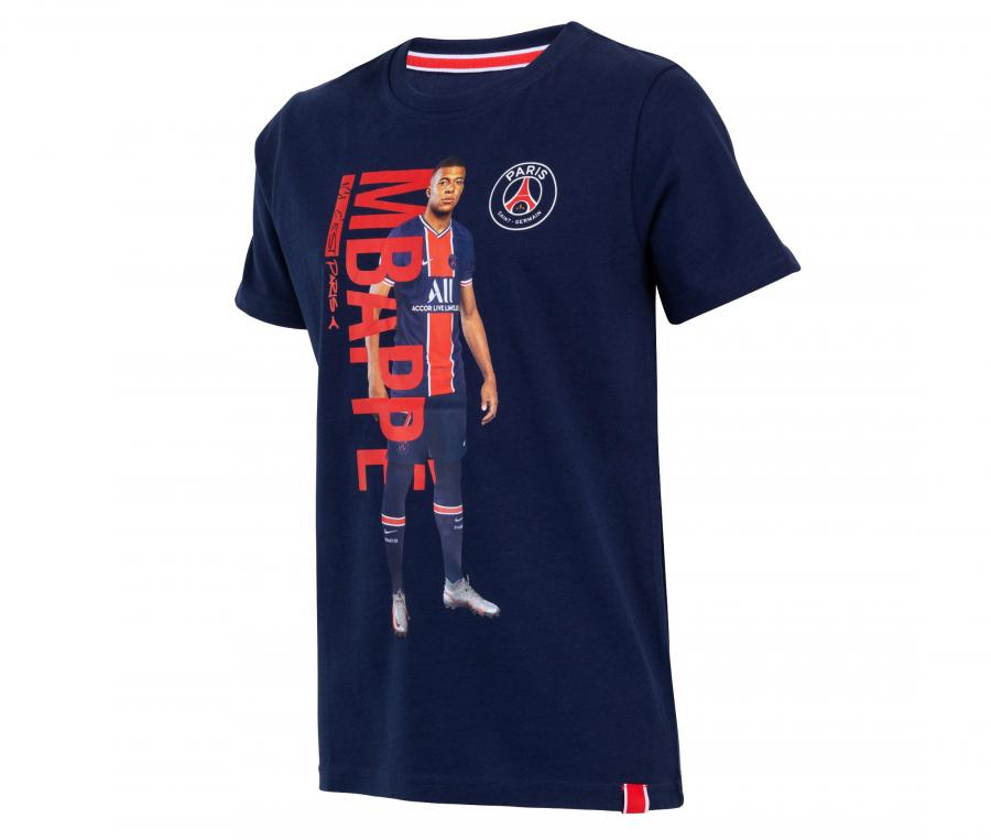T-shirt Player PSG Mbappé Bleu Junior