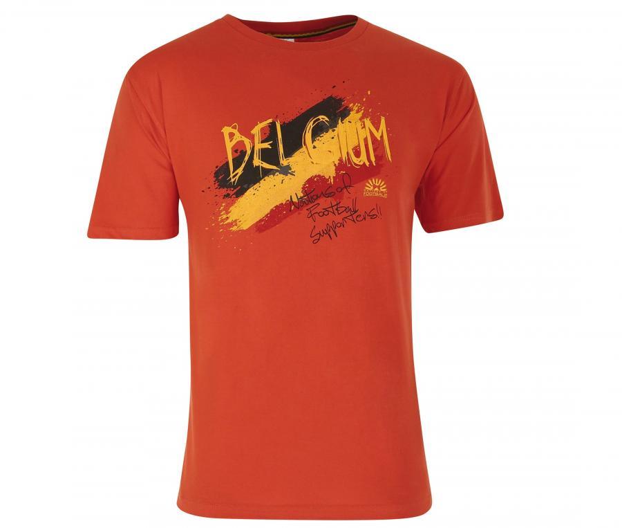 T-shirt Graphique Belgique Rouge