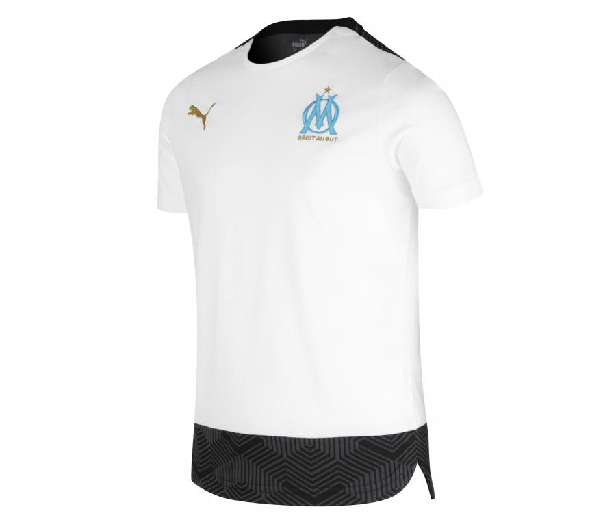 Camiseta OM Casual Blanco/Negro Júnior