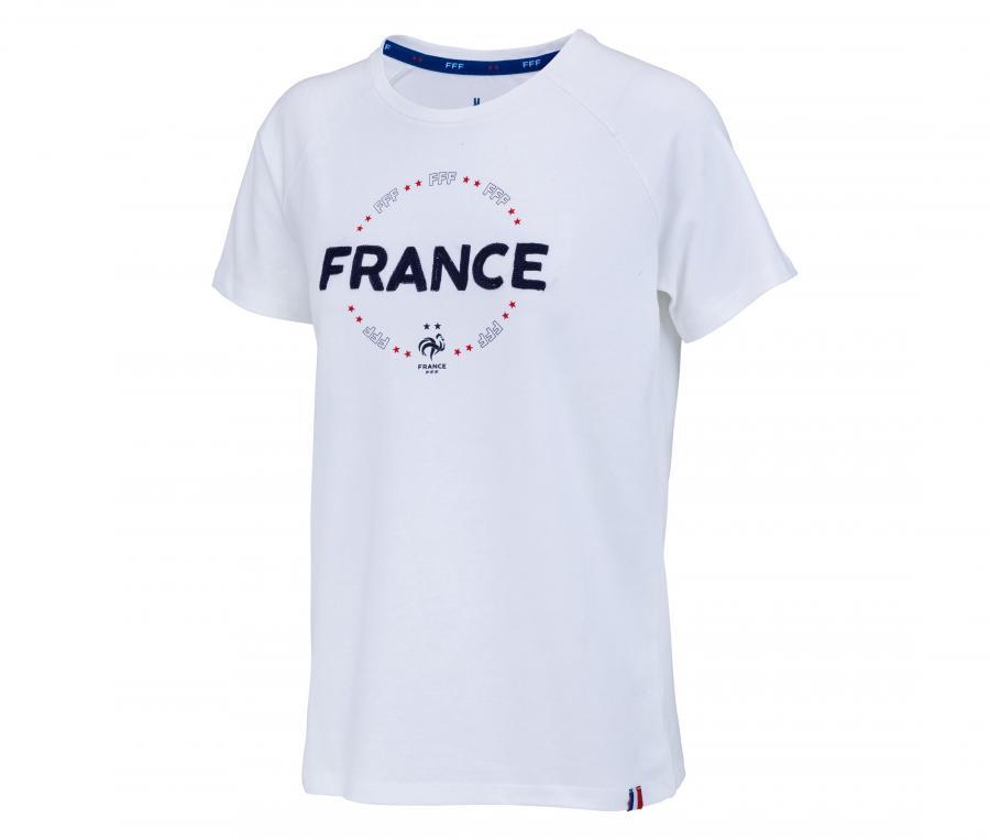 T-shirt France Fan Blanc Femme