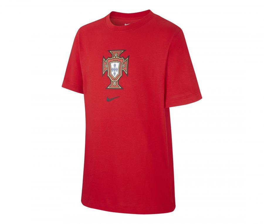 T-shirt Portugal Crest Rouge Junior