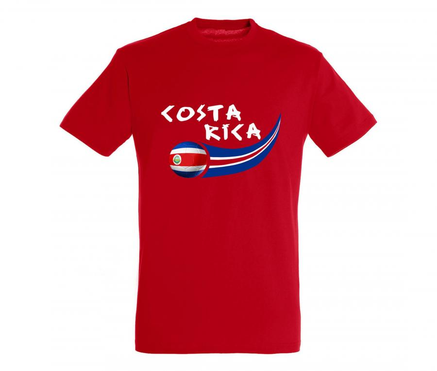 T-shirt Costa Rica Rouge