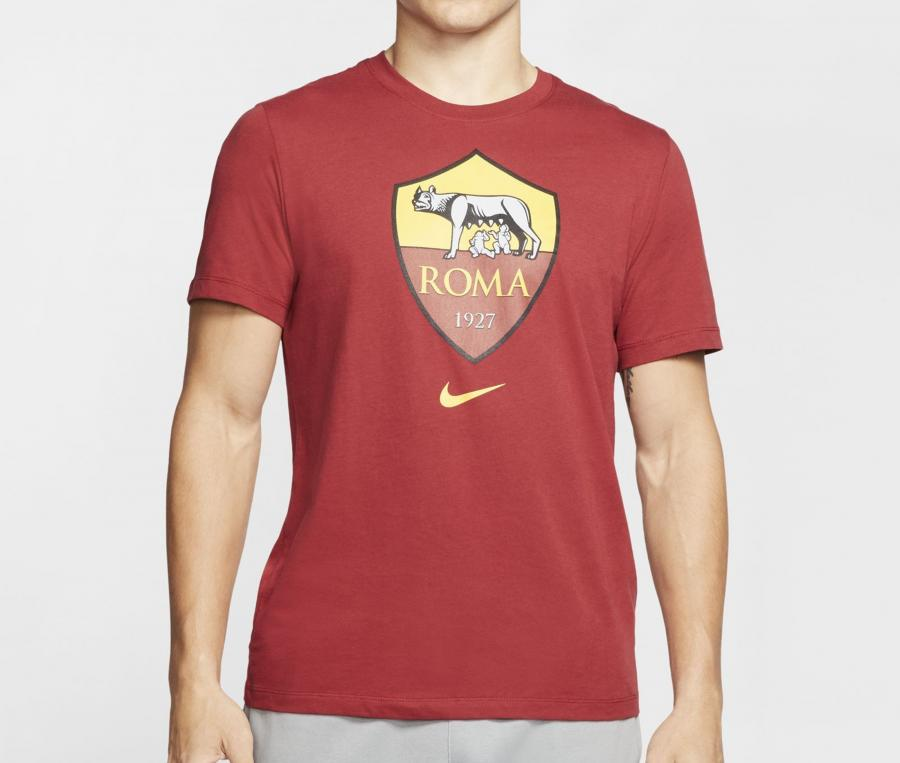 T-shirt AS Roma Crest Rouge