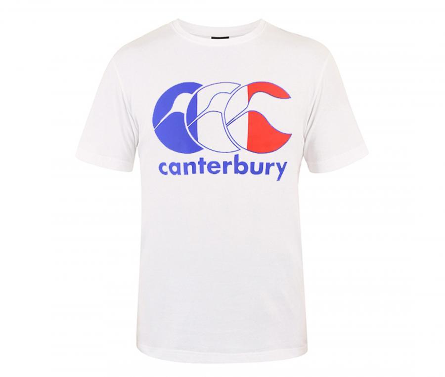 T-shirt Canterbury France Flag Blanc