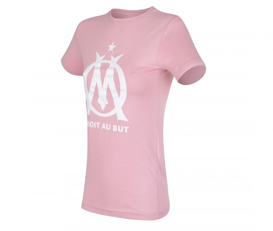 Camiseta OM Logo Rosa Niña