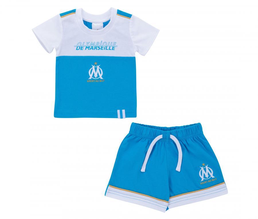 Tee-shirt + Shorts OM Blue Baby