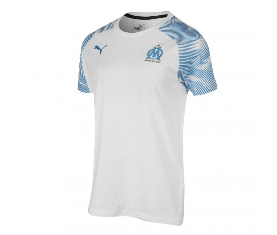 T-shirt OM Casuals Blanc/Bleu Femme