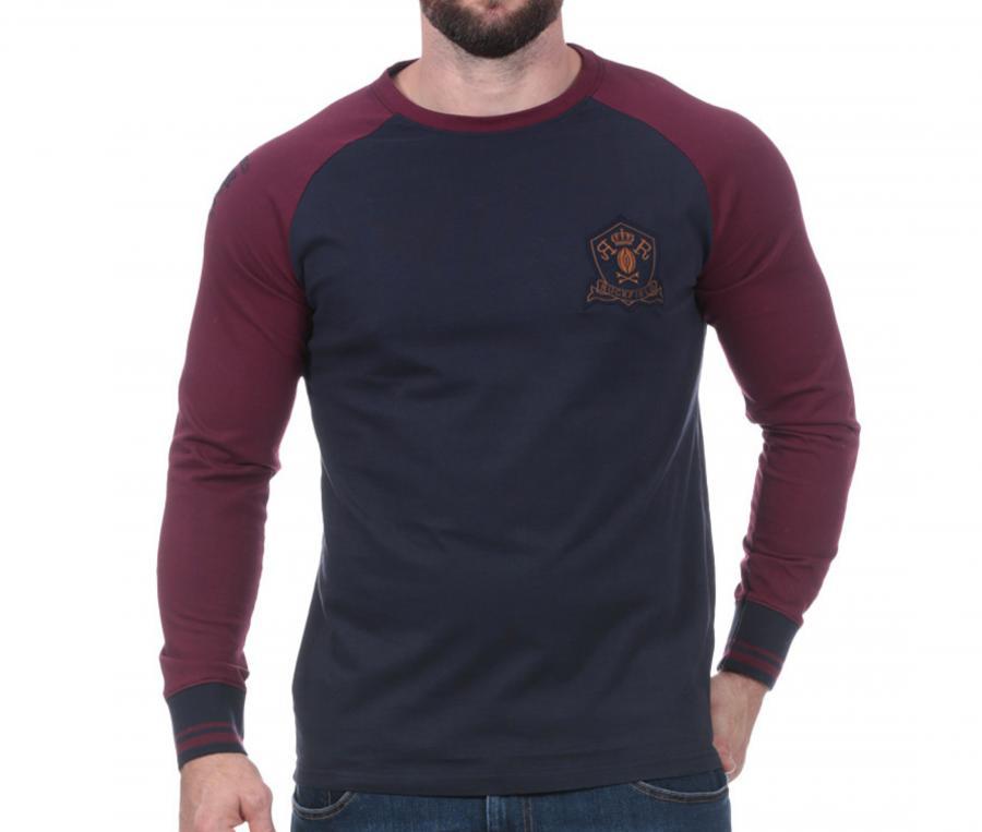 Sweat-shirt Ruckfield Rugby Héritage Bleu/Rouge