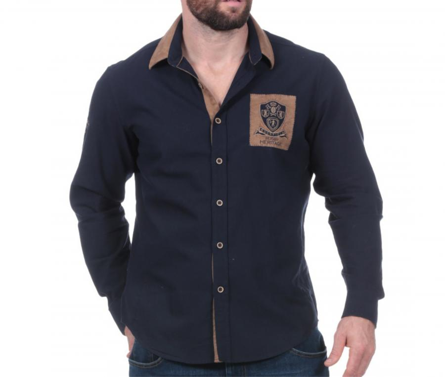 Chemise Manches Longues Ruckfield Rugby Héritage Bleu
