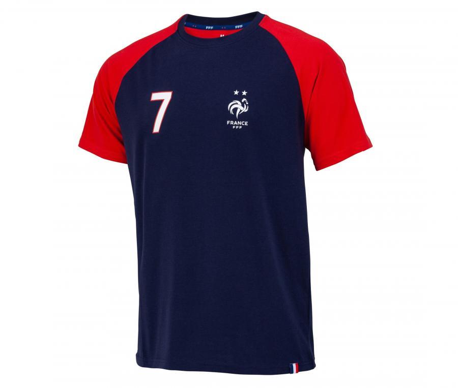 T-shirt France Griezmann 7 Bleu/Rouge Junior