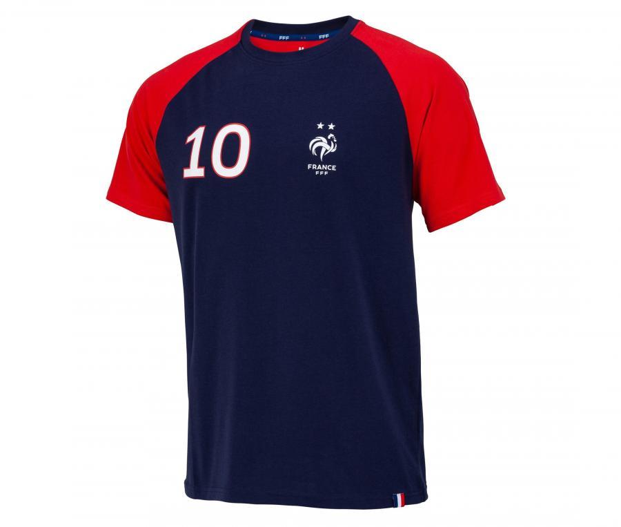 T-shirt France Mbappe 10 Bleu/Rouge Junior