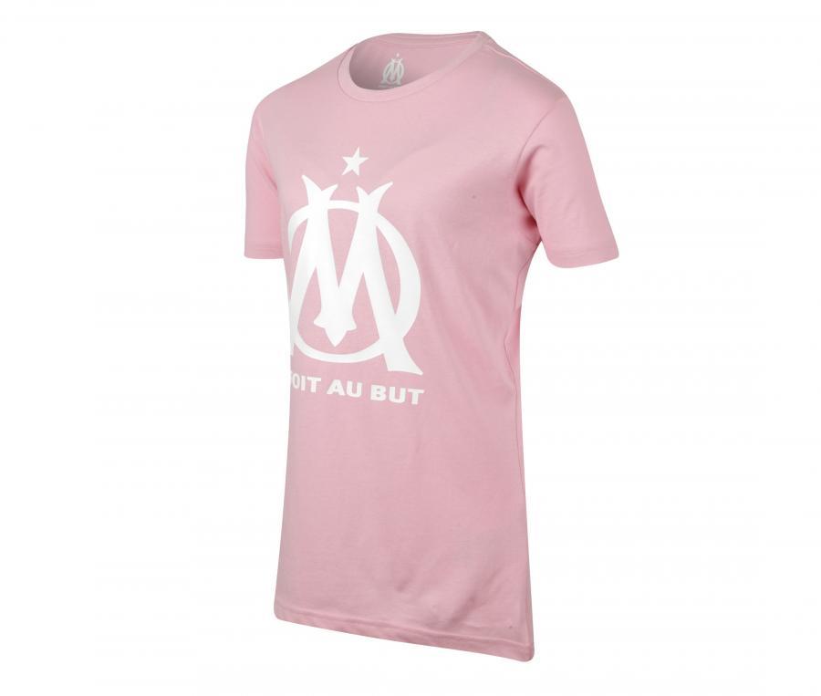 T-shirt OM Logo Rose Femme