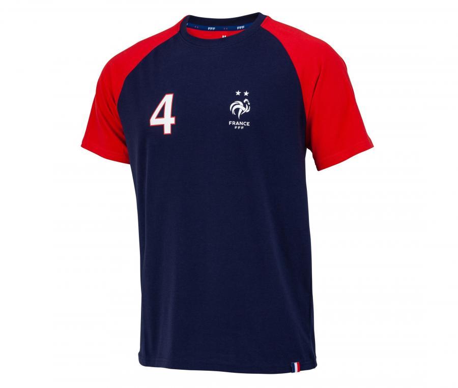 T-shirt France Varane 4 Bleu/Rouge Junior
