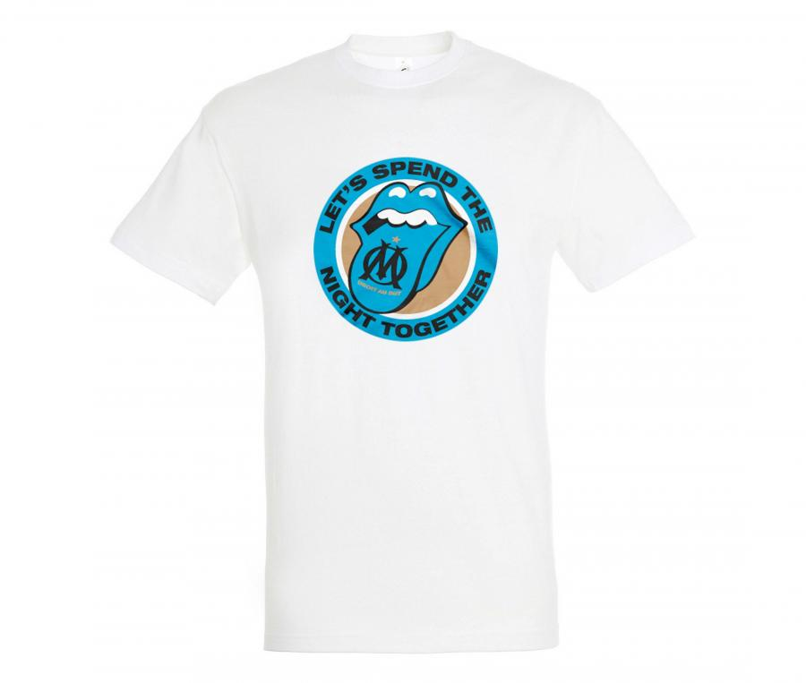 Tee-shirt OM Rolling Stones White