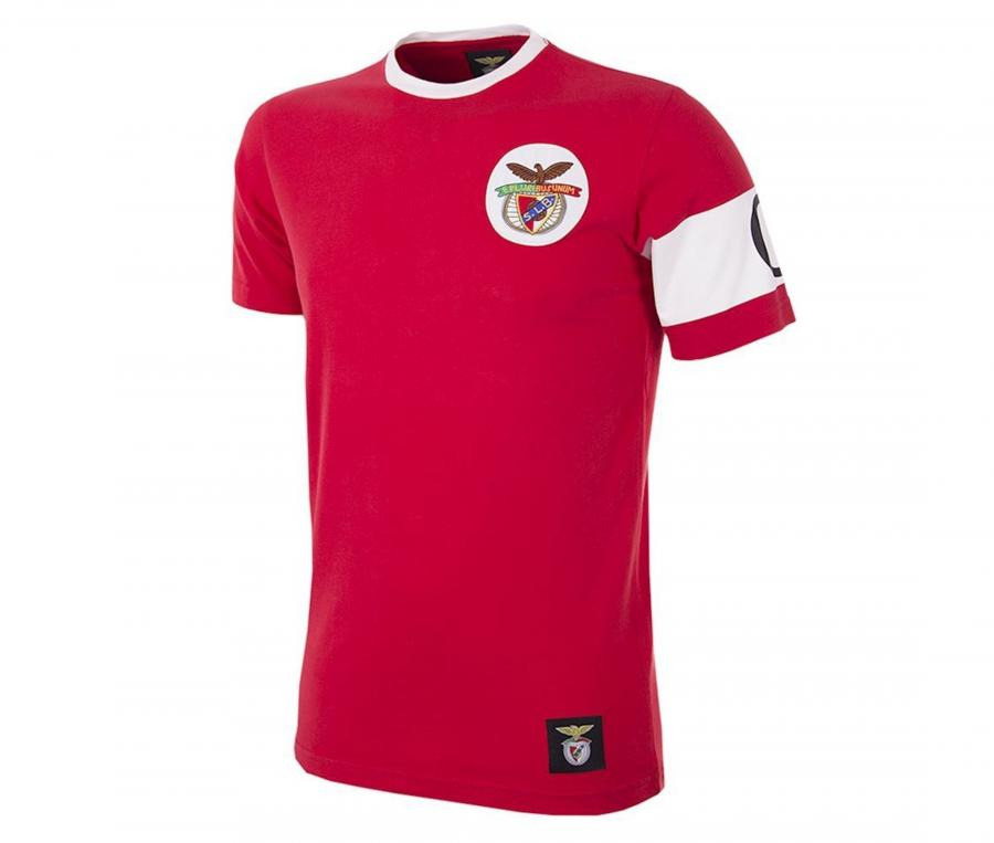 T-shirt Vintage Benfica Capitaine Rouge