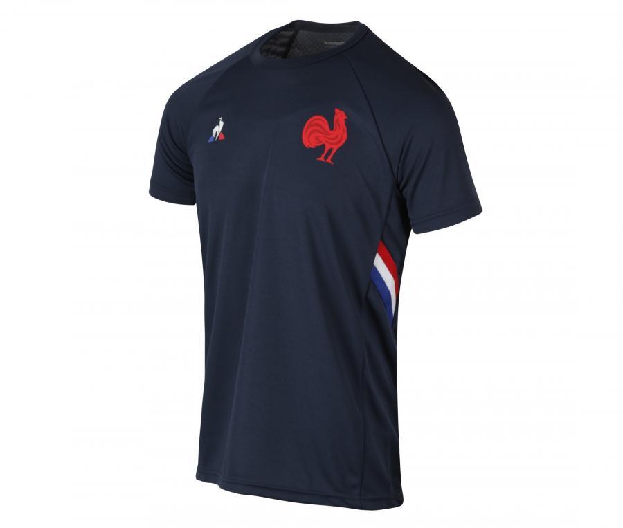 T-shirt Entraînement France FFR Bleu