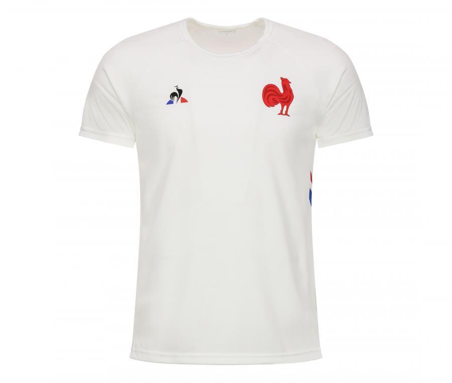 T-shirt Entraînement France FFR Fitness Blanc