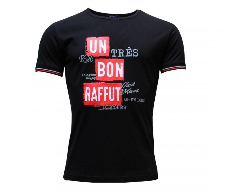 T-shirt Religion Rugby Bon Raffût vs Long Discours Christian Califano Noir