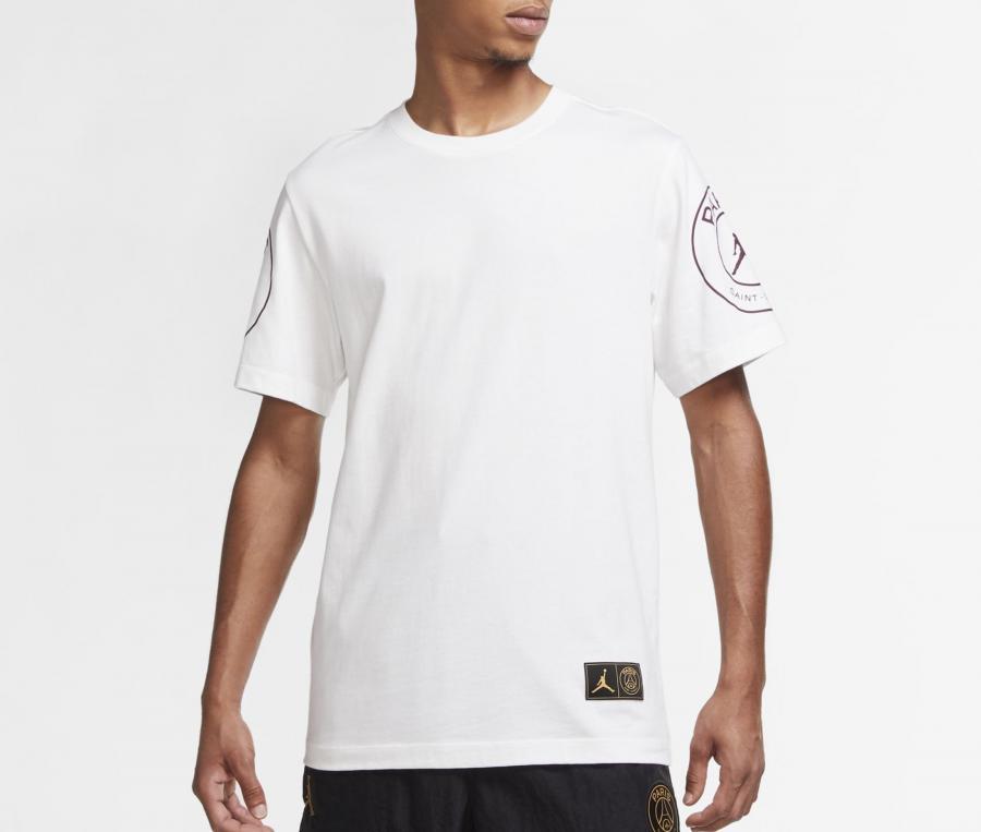 T-shirt Jordan x PSG Logo Blanc