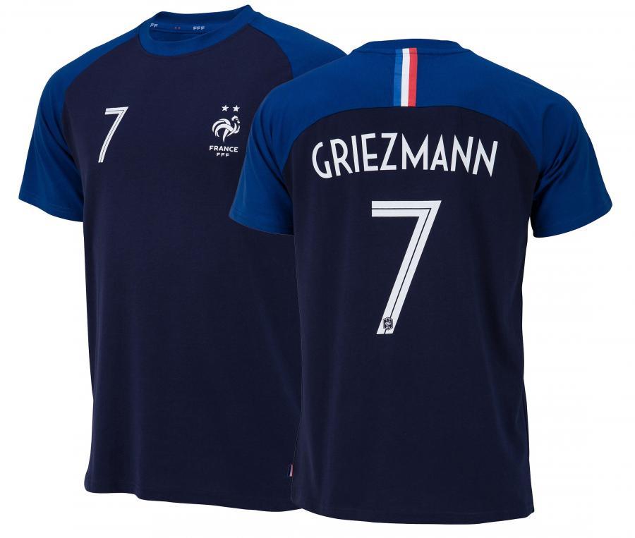 T-shirt France Griezmann N°7 Bleu 2 etoiles